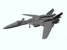 Sci-Fi Fighter Jet 3d model