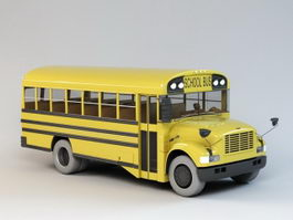 North American School Bus 3d model