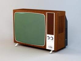 Old Color TV 3d model