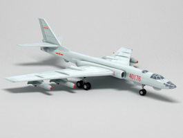 Xian H-6 Strategic Bomber Aircraft 3d model