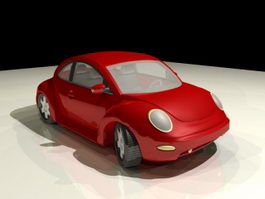 Volkswagen Beetle Cartoon 3d model