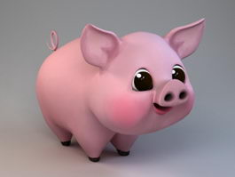 Cartoon Happy Pig 3d model