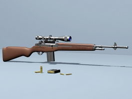 Hunting Sniper Rifle 3d model