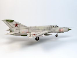 MiG-21 Jet Fighter 3d model
