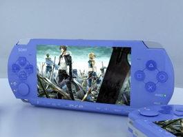 Blue PSP 3d model