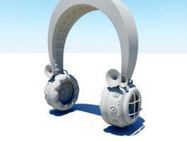 Steampunk Headphone 3d model