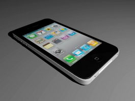 Black iPhone 4 3d model