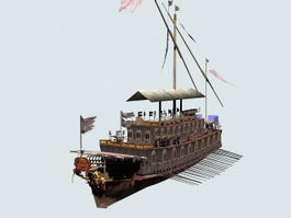 Ancient Pirate Ship 3d model