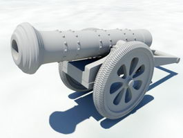 Artillery Cannon 3d model