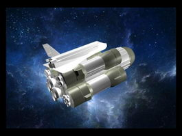 Space Shuttle Rockets Set 3d model