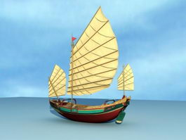 Ancient Tall Ship 3d model