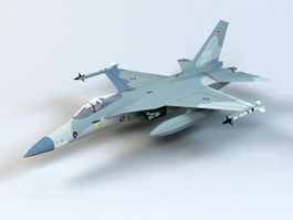 F-CK-1 Fighter Aircraft 3d model