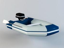 Inflatable Fishing Raft 3d model