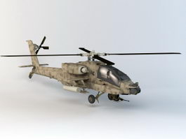 Combat Helicopter 3d model
