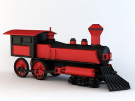 Cartoon Steam Train 3d model