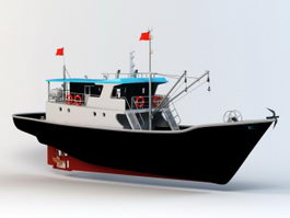 Fishing Ship Vessel 3d model