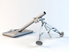 82MM Mortar 3d model