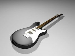 Black Guitar 3d model