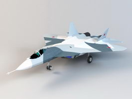 Sukhoi T-50 Stealth Fighter Jet 3d model