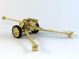 Panzerabwehrkanone 40 Anti-Tank Gun 3d model