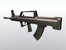 QBZ-95 Chinese Assault Rifle 3d model