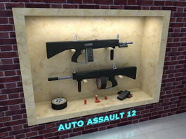Auto Assault-12 Shotgun 3d model