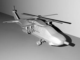 Armed Black Hawk 3d model
