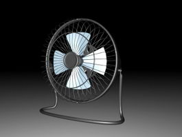 Vintage Table Fan 3d model