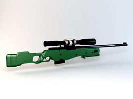 Small Sniper Rifle 3d model
