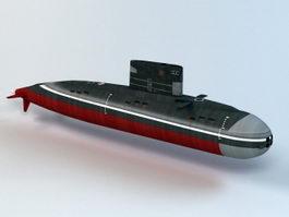 Kilo-class Submarine 3d model