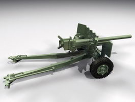 German Light Howitzer 3d model