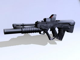 Tavor TAR-21 Assault Rifle 3d model
