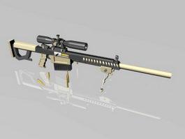 MSG Sniper Rifle 3d model