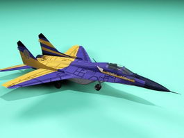 MiG-29 Fighter Jet 3d model