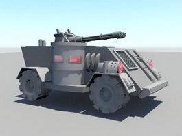 Future Fighting Vehicle 3d model
