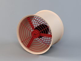 Industrial Ventilation Fan 3d model