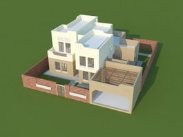 House Plan 3D Visualization 3d model