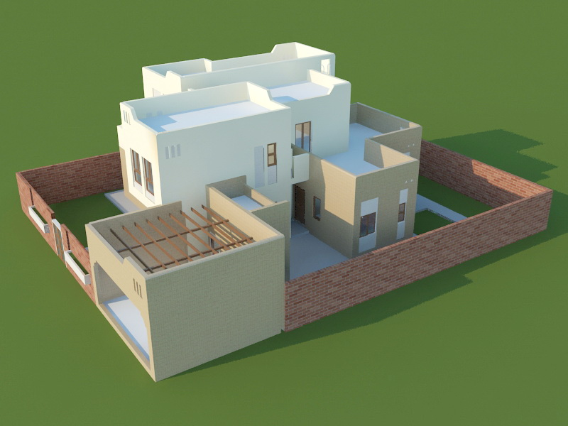 House Plan 3d Visualization 3d Model Cadnav