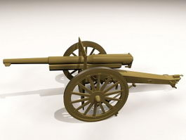 Small Artillery Gun 3d model