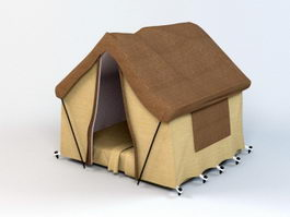 Luxury Camping Tent 3d model