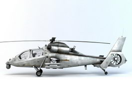 WZ-19 Reconnaissance and Attack Helicopter 3d model