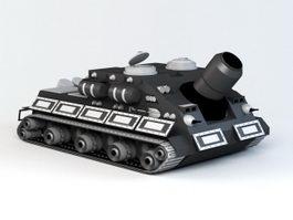 Sturmtiger Assault Gun Cartoon 3d model