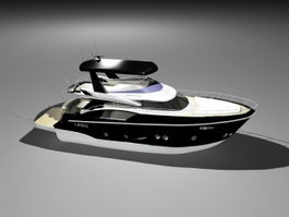 Small Luxury Yacht 3d model