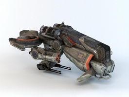 Futuristic Gunship 3d model