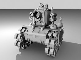 Cartoon Army Tank 3d model