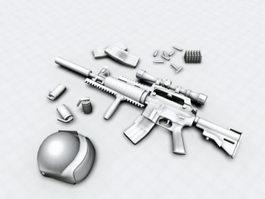 America Military M4 Carbine 3d model