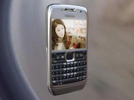 Nokia E71 Smartphone 3d model