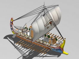 Roman Empire Warship 3d model