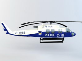 Chinese Police Helicopter 3d model