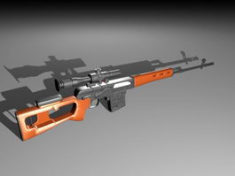 Barrett .50 Cal Sniper Rifle 3d model